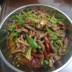 泡生姜炒牛肉