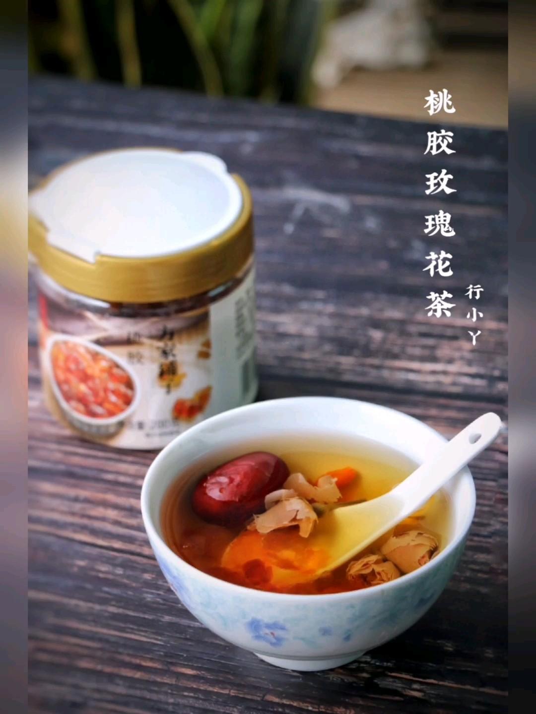 桃胶玫瑰花茶