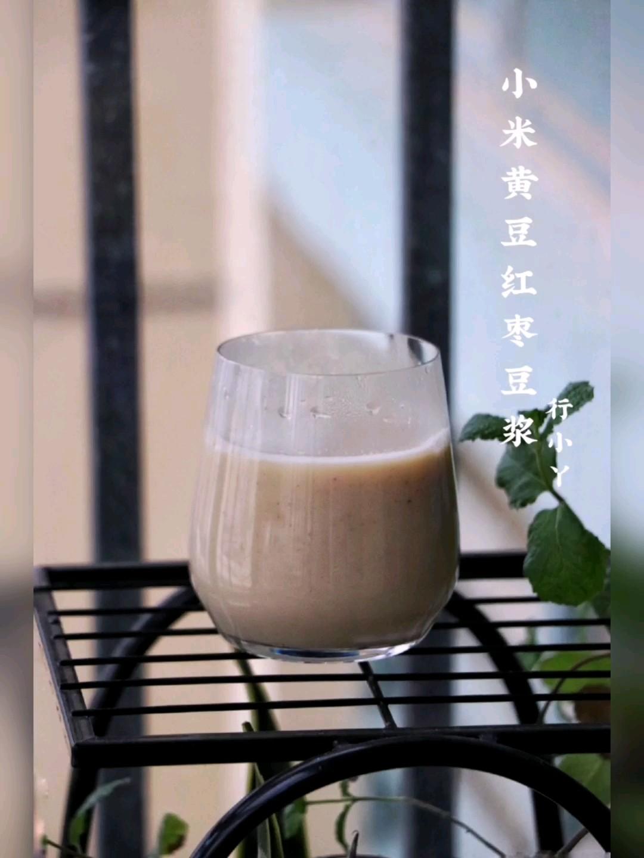 小米黄豆红枣豆浆