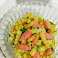 火腿炒土豆