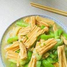 腐竹炒丝瓜
