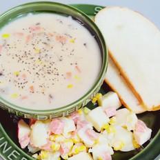 奶油蘑菇玉米汤