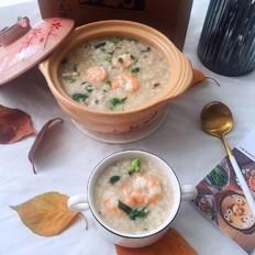 砂锅香菇虾仁粥