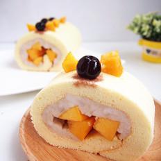黄桃山药蛋糕卷