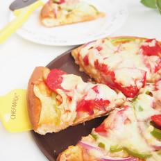 番茄鸡肉肠披萨