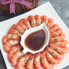 白灼竹节虾#丘比沙拉汁#