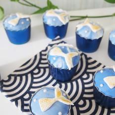 海洋系列翻糖纸杯蛋糕
