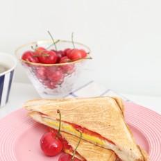 番茄鸡蛋三明治+三色藜麦粥