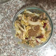 肉片白菜炒粉条
