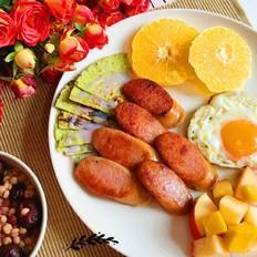烤白肠早餐