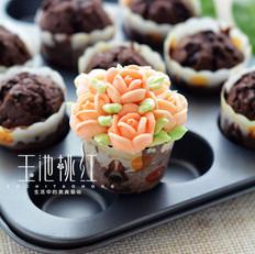 巧克力纸杯花朵蛋糕