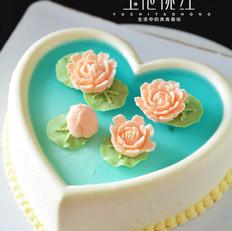 荷花酸奶慕斯蛋糕