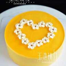 芒果慕斯小花朵蛋糕