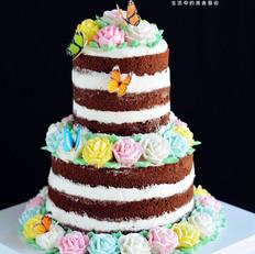 鲜花裸蛋糕