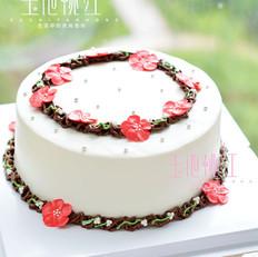 小红花环蛋糕