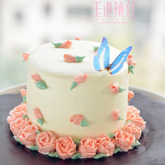 小玫瑰花奶油蛋糕