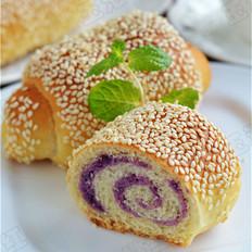 汤种芝香紫薯面包