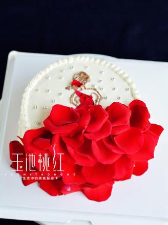 玫瑰花裙奶油蛋糕的做法