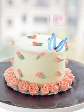 小玫瑰花奶油蛋糕的做法