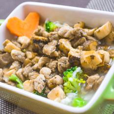 狗狗菜谱:西兰花肉片粥