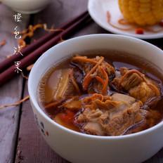 虫草玉米排骨汤