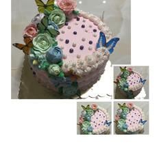 轻乳酪奶油霜裱花蛋糕