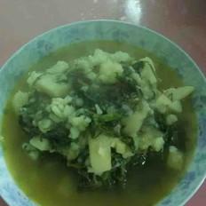 芥菜炖土豆