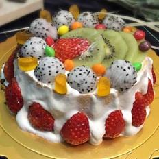 自制六寸生日蛋糕