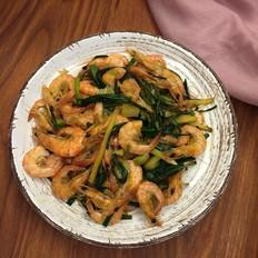 老荞炒河虾