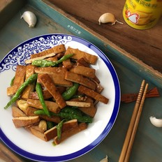 青椒炒香干豆腐