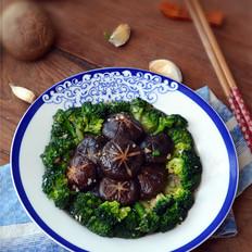 西兰花酿香菇