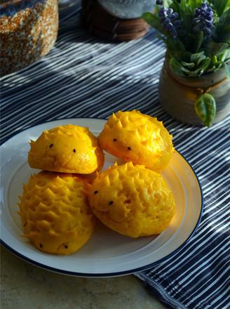 南瓜刺猬豆沙包的做法