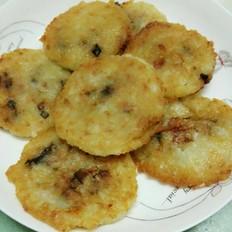 土豆米饭香菇饼