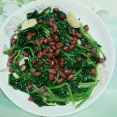 花生炒菠菜