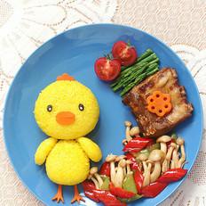 小鸡餐盘画