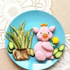小猪公主餐盘画
