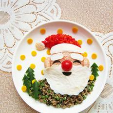 圣诞老人餐盘画