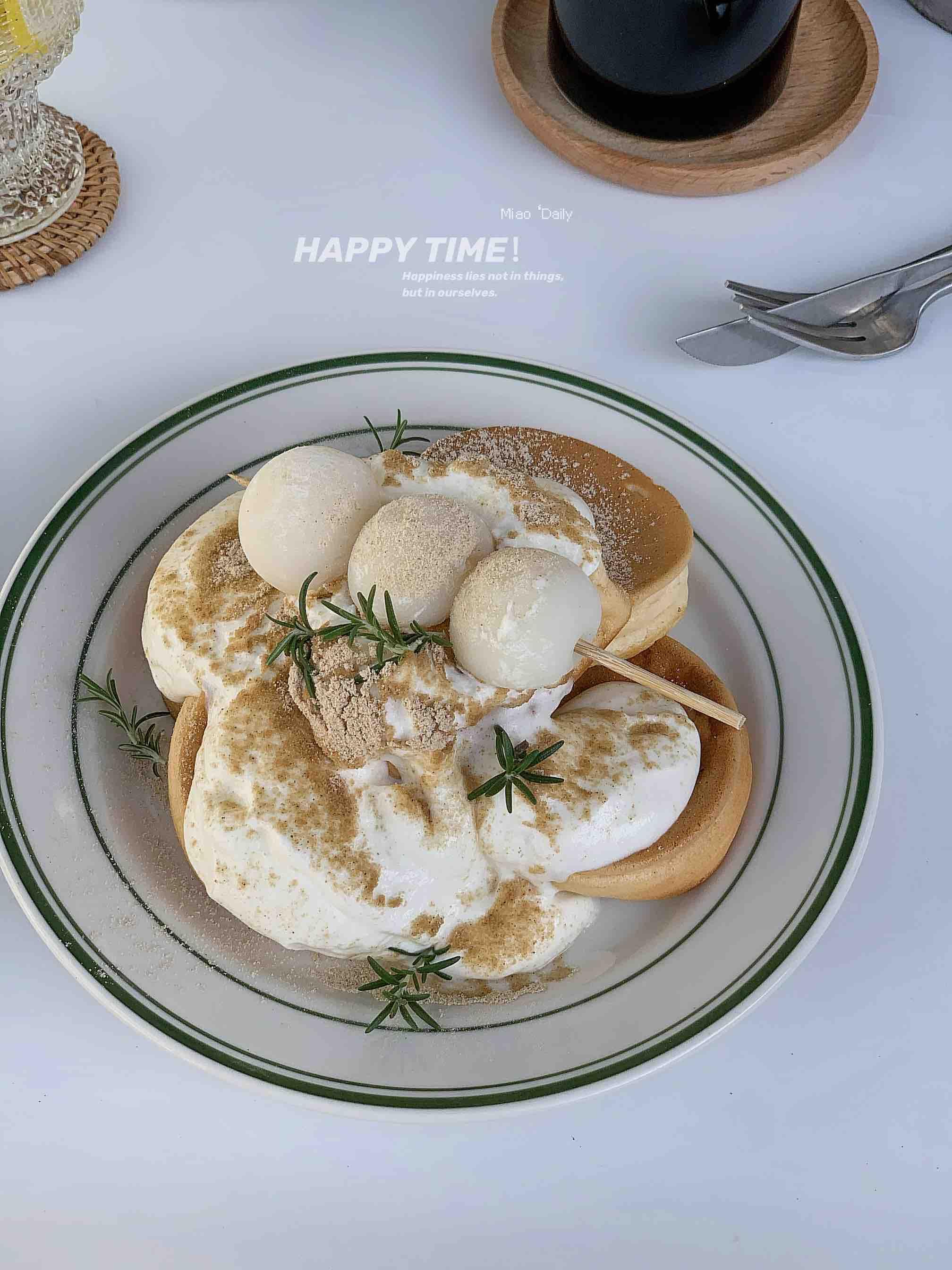 香甜松软的酸奶舒芙蕾松饼