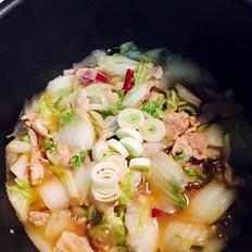 猪肉白菜炖红薯粉