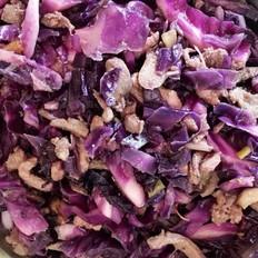 紫甘蓝炒鸡肉