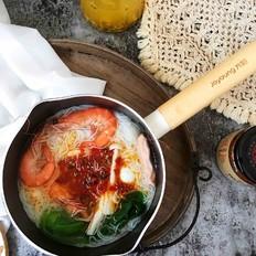 鲜虾时蔬米线
