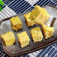 西兰花玉米鸡肉糕(芝士焗烤版)