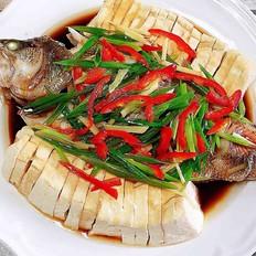 清蒸豆腐鲈鱼
