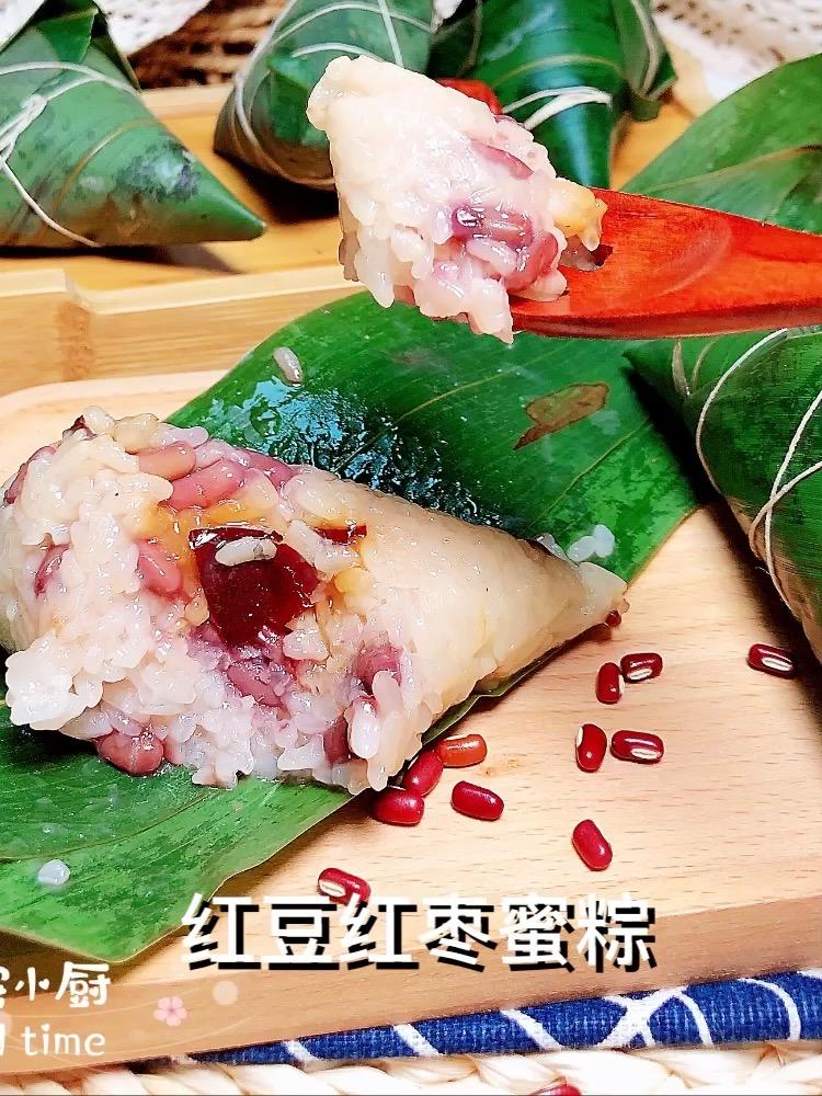 红豆红枣蜜粽