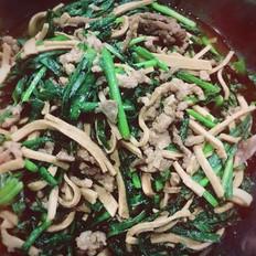 韭菜百叶肉丝