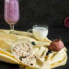 健康蓝莓燕麦早餐奶