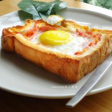 西红柿太阳蛋吐司