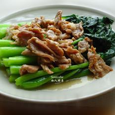 瘦肉炒菜心
