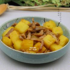 酸酸甜甜菠萝炒肉丝