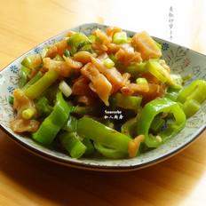 青椒炒萝卜干